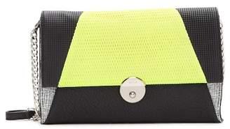 Milly Wythe Mixed Media Leather Crossbody Clutch