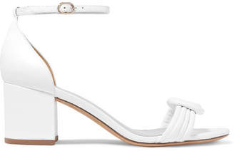Alexandre Birman Vicky Knotted Leather Sandals - White