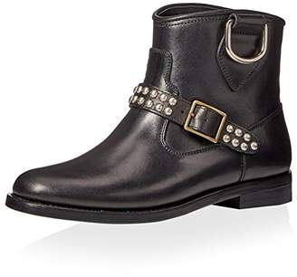 Saint Laurent Women's Motorcycle Studded Strap Boot