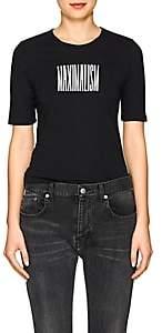 "Monogram Women's ""Maximalism"" Cotton Jersey T-Shirt-Black"