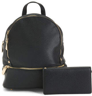 Backpack With Matching Wallet