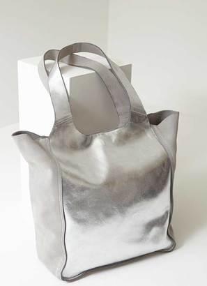 Mint Velvet Erin Silver Metallic Shopper