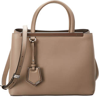 47b83030ef ... bag in brown and beige monogram canvas and brown leather ca7a8 3bc2f   wholesale at rue la la fendi petite 2jours leather tote 44713 acf2e