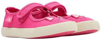 Next Girls Joules Pink Fundays Velcro Strap Pump