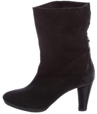 Walter Steiger Canvas Ankle Boots