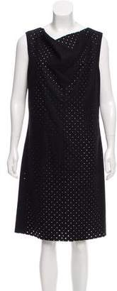 Michael Kors Perforated Wool Shift Dress