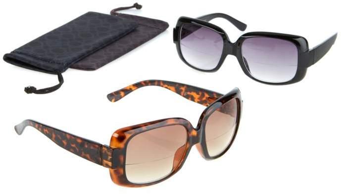 Joy Mangano JOY 4-piece SHADES Reader Oversized Design Bifocal Sunglasses