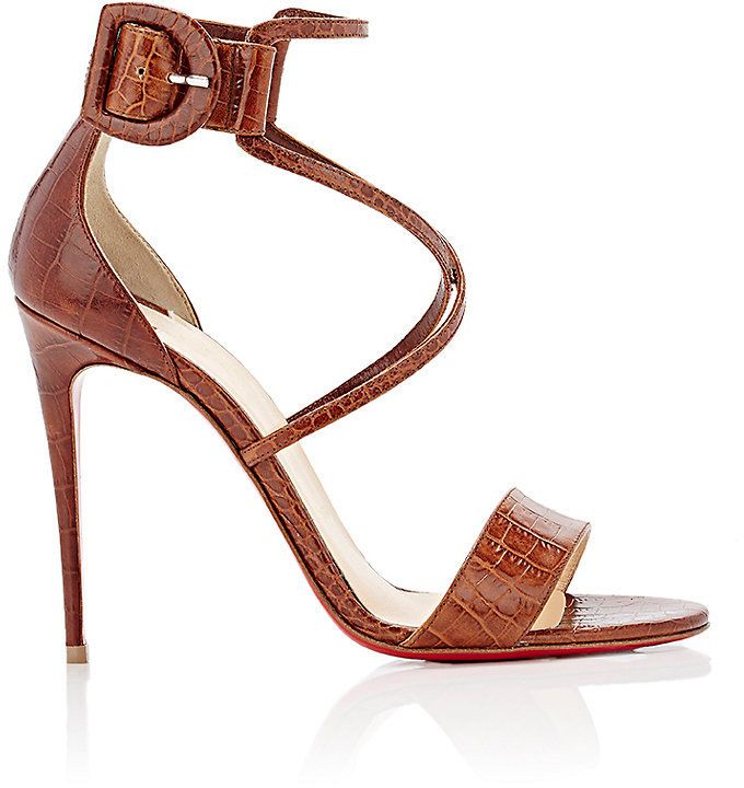 Christian Louboutin Women's Choca Stamped Leather Sandals