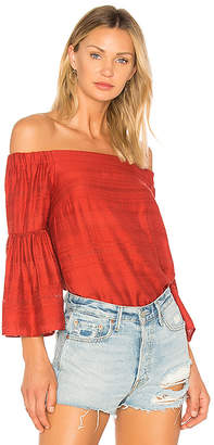 1 STATE Off Shoulder Bell Sleeve Blouse