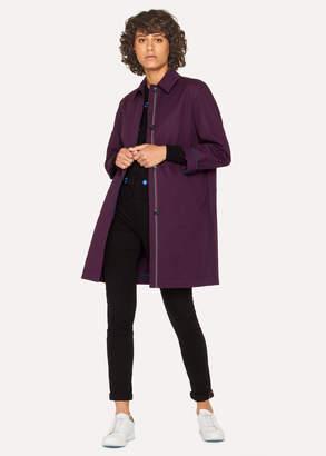 Paul Smith Women's Purple Cotton Unlined Mac
