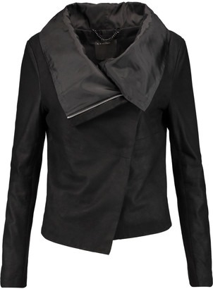 Muubaa Sinoia draped leather jacket $495 thestylecure.com