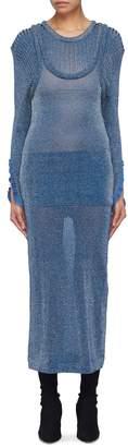 Chloé Layered sweater panel silk blend knit tank dress