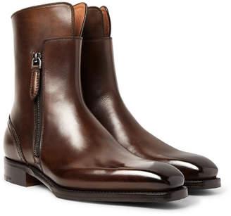 Ermenegildo Zegna Polished-Leather Boots
