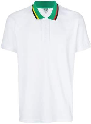 Kenzo contrast collar polo shirt