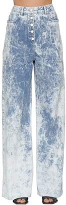 Aalto Tie Dye Flared Cotton Denim Jeans
