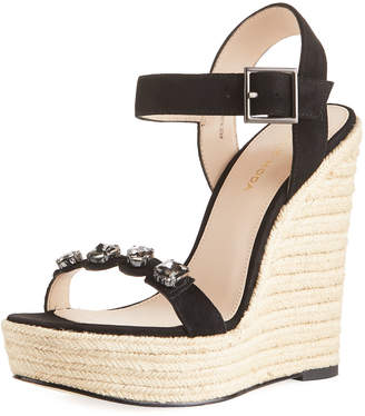 Pelle Moda Olea Suede Wedge Sandal