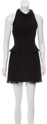 Porter Grey Wool Mini Dress