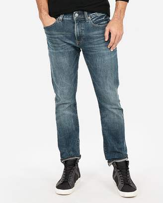Express Slim Dark Wash Stretch Jeans