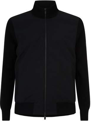 Ermenegildo Zegna Knitted Sleeve Bomber Jacket