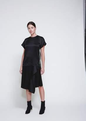 Cédric Charlier Short Sleeve Silk Blouse