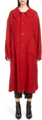 Yohji Yamamoto Y's by Big Pocket Wool Coat
