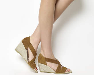 Office Maiden Cross Strap Wedge