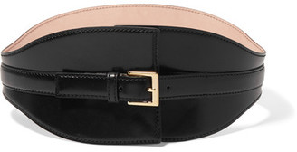 Alexander McQueen - Leather Waist Belt - Black $945 thestylecure.com