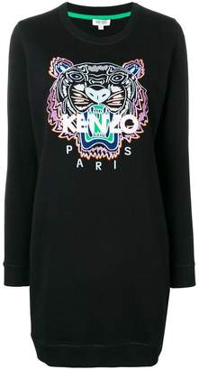 Kenzo Tiger embroidered sweatshirt dress