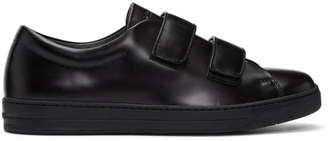 Prada Black Two Strap Sneakers