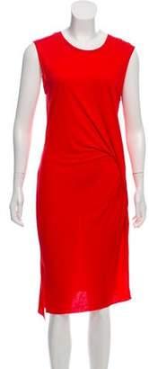 AllSaints Draped Knee-Length Dress