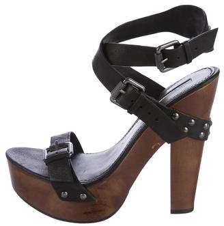 Vera Wang Studded Platform Sandals