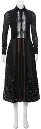 Bottega Veneta 2017 Embellished Knit Dress Black 2017 Embellished Knit Dress