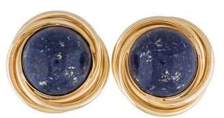Lapis 14K Lazuli Earclips