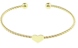 FINE JEWELRY Sechic 14K Gold Heart Bangle Bracelet