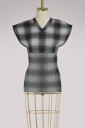 Celine Sleeveless plaid sweater