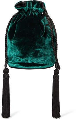 Hunting Season - Tula Velvet Shoulder Bag - Dark green