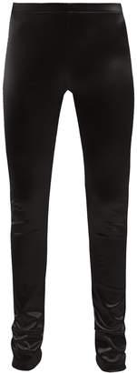 Junya Watanabe Satin-stretch leggings