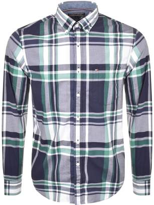 Tommy Hilfiger Kenzie Check Shirt Blue