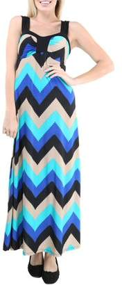 24/7 Comfort Apparel Women's Abstract Beach Side Printed Dress