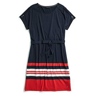 Tommy Hilfiger Adaptive Women's Cold Shoulder Dress with Hidden Magnetic Buttons