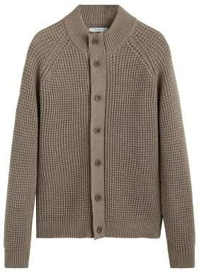 MANGO Chunky-knit cardigan