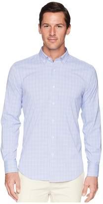 Bugatchi Long Sleeve Woven Shirt Shaped Fit Men's Clothing