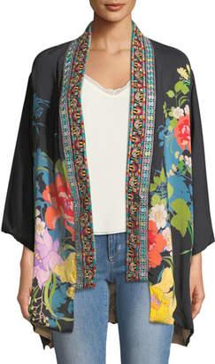 Johnny Was Fuskha Floral-Print Kimono