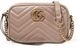Gucci Gg Marmont Camera Mini Quilted Leather Shoulder Bag - Neutral
