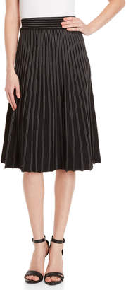 Max Studio Striped Midi Sweater Skirt