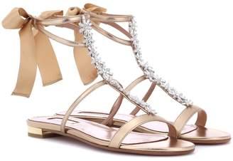 Aquazzura Mustique leather sandal