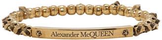 Alexander McQueen Gold Mini Skull Bracelet
