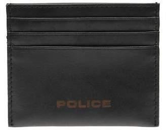Police Idol Card Case Wallet Tonal Stitching