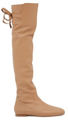 Gabriela Hearst Porto Leather Over The Knee Boots - Womens - Nude