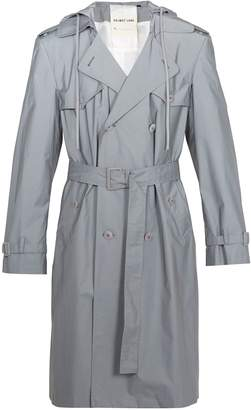 Helmut Lang Reflective double-breasted hooded trench coat